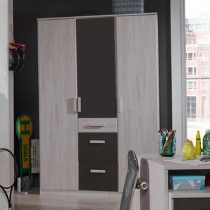 Kleiderschrank mit Schubladen & Drehtüren Weißeiche Dekor - Mereto