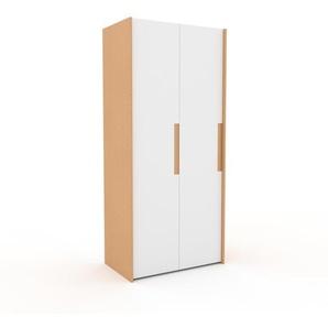 Kleiderschrank Buche - Individueller Designer-Kleiderschrank - 104 x 233 x 62 cm, Selbst Designen, Kleiderlift
