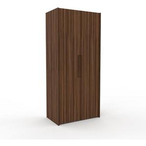 Kleiderschrank Nussbaum, Holz - Individueller Designer-Kleiderschrank - 104 x 233 x 62 cm, Selbst Designen, nur bei