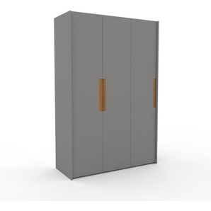 Kleiderschrank Grau - Individueller Designer-Kleiderschrank - 154 x 233 x 62 cm, Selbst Designen, Kleiderstange