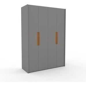 Kleiderschrank Grau - Individueller Designer-Kleiderschrank - 164 x 233 x 62 cm, Selbst Designen, Kleiderstange