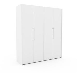 Kleiderschrank Weiß - Individueller Designer-Kleiderschrank - 204 x 233 x 62 cm, Selbst Designen, Kleiderstange