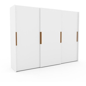 Kleiderschrank Weiß - Individueller Designer-Kleiderschrank - 304 x 233 x 65 cm, Selbst Designen, hohe Schublade/Schublade Glasfront/Kleiderlift
