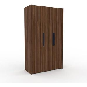 Kleiderschrank Nussbaum, Holz - Individueller Designer-Kleiderschrank - 134 x 233 x 62 cm, Selbst Designen, Kleiderstange