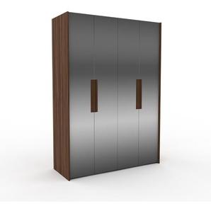 Kleiderschrank Nussbaum - Individueller Designer-Kleiderschrank - 164 x 233 x 62 cm, Selbst Designen, Kleiderstange/hohe Schublade