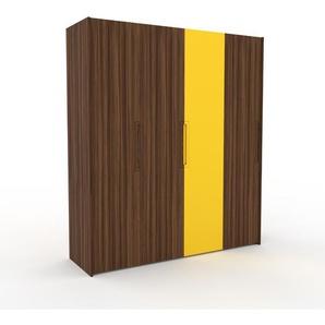 Kleiderschrank Nussbaum - Individueller Designer-Kleiderschrank - 204 x 233 x 62 cm, Selbst Designen, Kleiderstange/hohe Schublade