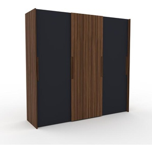 Kleiderschrank Nussbaum - Individueller Designer-Kleiderschrank - 244 x 233 x 65 cm, Selbst Designen, Böden/hohe Schublade/Kleiderstange