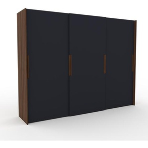 Kleiderschrank Nussbaum - Individueller Designer-Kleiderschrank - 304 x 233 x 65 cm, Selbst Designen, Kleiderstange/hohe Schublade/Kleiderlift