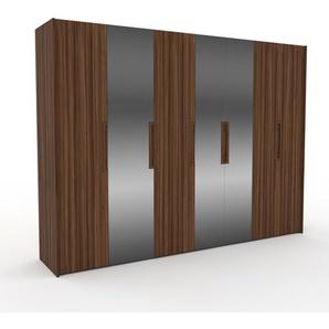 Kleiderschrank Nussbaum - Individueller Designer-Kleiderschrank - 314 x 233 x 62 cm, Selbst Designen, hohe Schublade/Hosenhalter