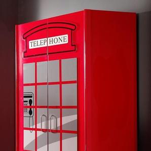 Kleiderschrank im Design einer englischen Telefonzelle - Paddington