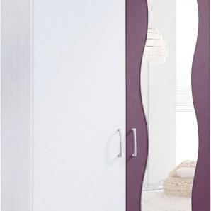 Kleiderschrank, pflegeleichte Kunststoffoberfläche, 2-türig, lila