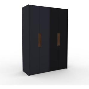 Kleiderschrank Anthrazit/Schwarz - Individueller Designer-Kleiderschrank - 164 x 233 x 62 cm, Selbst Designen, Kleiderlift