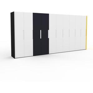 Kleiderschrank Schwarz/Gelb - Individueller Designer-Kleiderschrank - 504 x 233 x 62 cm, Selbst Designen, nur bei