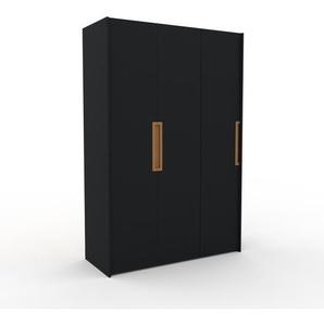 Kleiderschrank Schwarz - Individueller Designer-Kleiderschrank - 154 x 233 x 62 cm, Selbst Designen, Kleiderstange