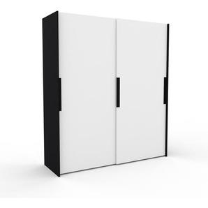 Kleiderschrank Schwarz - Individueller Designer-Kleiderschrank - 204 x 233 x 65 cm, Selbst Designen, Kleiderstange/hohe Schublade