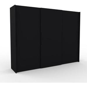 Kleiderschrank Schwarz - Individueller Designer-Kleiderschrank - 304 x 233 x 65 cm, Selbst Designen, Kleiderstange/hohe Schublade