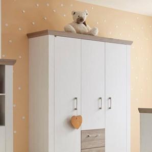 Kleiderschrank »Stralsund«, mit 3 Türen und 2 Schubkästen, weiß