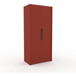 Kleiderschrank Rot - Individueller Designer-Kleiderschrank - 104 x 233 x 62 cm, Selbst Designen, Schublade Glasfront/Kleiderlift