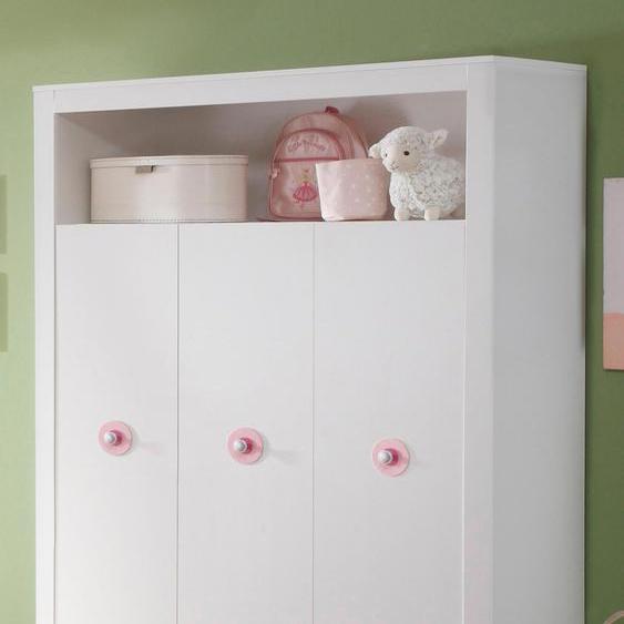 Kleiderschrank Trend 130 x 186 54 (B H T) cm, 3-türig weiß Baby Babyschränke Babymöbel Schränke