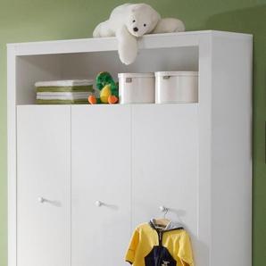 Kleiderschrank Trend, 3-türig B/H/T: 130 cm x 186 54 cm, 3 weiß Kinder Kinderschränke Kindermöbel