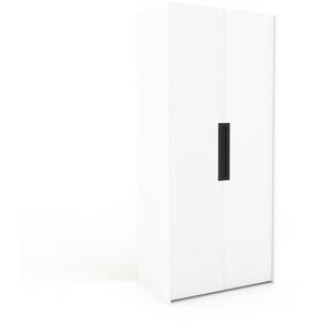 Kleiderschrank Weiß - Individueller Designer-Kleiderschrank - 104 x 233 x 62 cm, Selbst Designen, Kleiderstange