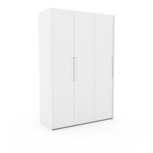 Kleiderschrank Weiß - Individueller Designer-Kleiderschrank - 154 x 233 x 62 cm, Selbst Designen, Kleiderstange/Kleiderlift