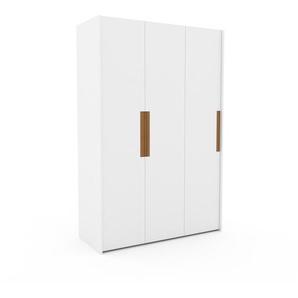 Kleiderschrank Weiß - Individueller Designer-Kleiderschrank - 154 x 233 x 62 cm, Selbst Designen, Kleiderstange