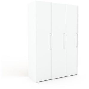 Kleiderschrank Weiß - Individueller Designer-Kleiderschrank - 154 x 233 x 62 cm, Selbst Designen, Kleiderstange/Schublade Glasfront