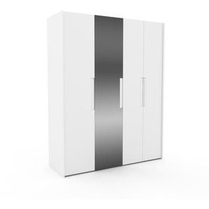 Kleiderschrank Weiß - Individueller Designer-Kleiderschrank - 184 x 233 x 62 cm, Selbst Designen, Kleiderstange