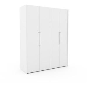 Kleiderschrank Weiß - Individueller Designer-Kleiderschrank - 184 x 233 x 62 cm, Selbst Designen, Schuhauszug/hohe Schublade/Schublade Glasfront/Kleiderlift/Hosenhalter