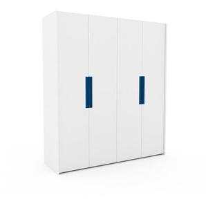 Kleiderschrank Weiß - Individueller Designer-Kleiderschrank - 204 x 233 x 62 cm, Selbst Designen, Böden