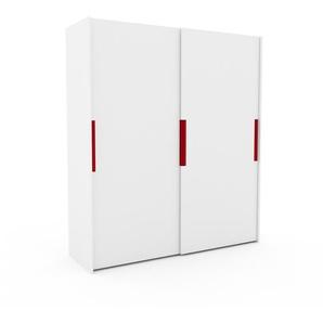 Kleiderschrank Weiß - Individueller Designer-Kleiderschrank - 204 x 233 x 65 cm, Selbst Designen, Böden/hohe Schublade/Kleiderlift