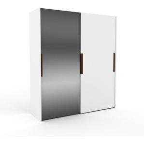 Kleiderschrank Weiß - Individueller Designer-Kleiderschrank - 204 x 233 x 65 cm, Selbst Designen, Kleiderstange/hohe Schublade/Schublade Glasfront/Hosenhalter