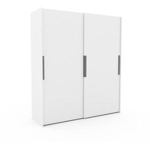 Kleiderschrank Weiß - Individueller Designer-Kleiderschrank - 204 x 233 x 65 cm, Selbst Designen, hohe Schublade/Kleiderlift
