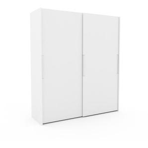 Kleiderschrank Weiß - Individueller Designer-Kleiderschrank - 204 x 233 x 65 cm, Selbst Designen, Kleiderstange