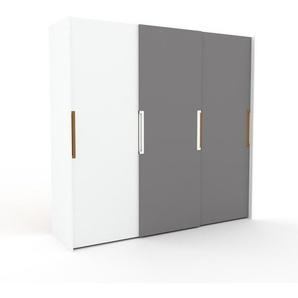 Kleiderschrank Weiß - Individueller Designer-Kleiderschrank - 244 x 233 x 65 cm, Selbst Designen, Böden/hohe Schublade/Schublade Glasfront/drawer_small_fronts/Kleiderlift/Schuhauszug