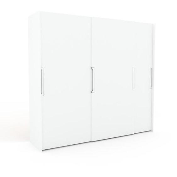 Kleiderschrank Weiß - Individueller Designer-Kleiderschrank - 254 x 233 x 65 cm, Selbst Designen, Böden/hohe Schublade/Schublade Glasfront/Kleiderlift/Kleiderstange