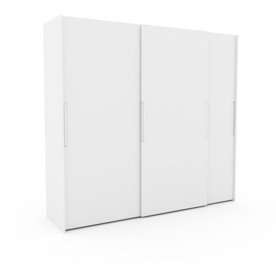Kleiderschrank Weiß - Individueller Designer-Kleiderschrank - 254 x 233 x 65 cm, Selbst Designen, Kleiderstange/hohe Schublade/Schublade Glasfront/Kleiderlift