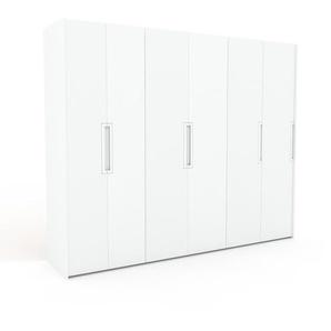 Kleiderschrank Weiß - Individueller Designer-Kleiderschrank - 284 x 233 x 62 cm, Selbst Designen, Kleiderstange/hohe Schublade/Kleiderlift