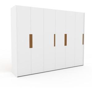 Kleiderschrank Weiß - Individueller Designer-Kleiderschrank - 304 x 233 x 62 cm, Selbst Designen, Schuhauszug/Kleiderstange/hohe Schublade/Hosenhalter