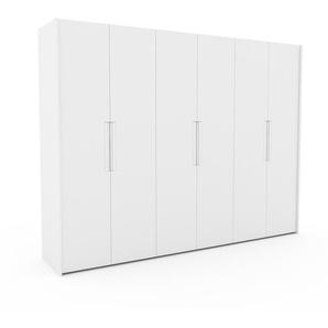 Kleiderschrank Weiß - Individueller Designer-Kleiderschrank - 304 x 233 x 62 cm, Selbst Designen, hohe Schublade