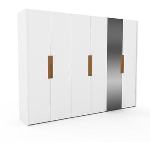 Kleiderschrank Weiß - Individueller Designer-Kleiderschrank - 304 x 233 x 62 cm, Selbst Designen, Kleiderstange