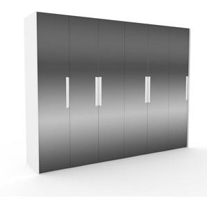 Kleiderschrank Weiß - Individueller Designer-Kleiderschrank - 304 x 233 x 62 cm, Selbst Designen, Kleiderstange/Schublade Glasfront