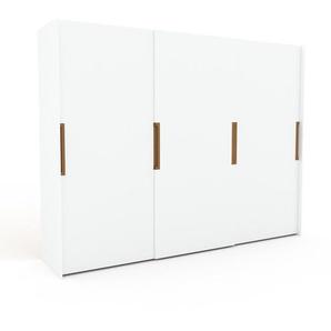 Kleiderschrank Weiß - Individueller Designer-Kleiderschrank - 304 x 233 x 65 cm, Selbst Designen, Böden/hohe Schublade/Hosenhalter/Kleiderstange
