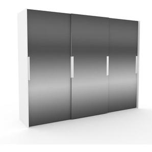 Kleiderschrank Weiß - Individueller Designer-Kleiderschrank - 304 x 233 x 65 cm, Selbst Designen, Böden/hohe Schublade/Schublade Glasfront/drawer_small_fronts/Kleiderlift