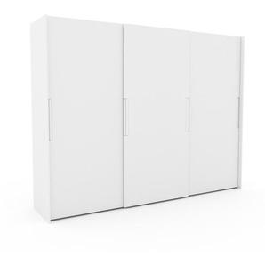 Kleiderschrank Weiß - Individueller Designer-Kleiderschrank - 304 x 233 x 65 cm, Selbst Designen, hohe Schublade