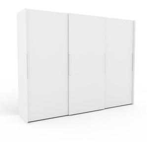 Kleiderschrank Weiß - Individueller Designer-Kleiderschrank - 304 x 233 x 65 cm, Selbst Designen, Kleiderstange/hohe Schublade