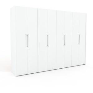 Kleiderschrank Weiß - Individueller Designer-Kleiderschrank - 324 x 233 x 62 cm, Selbst Designen, Kleiderstange