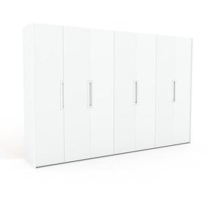 Kleiderschrank Weiß - Individueller Designer-Kleiderschrank - 354 x 233 x 62 cm, Selbst Designen, Schuhauszug/Kleiderstange/Schublade Glasfront