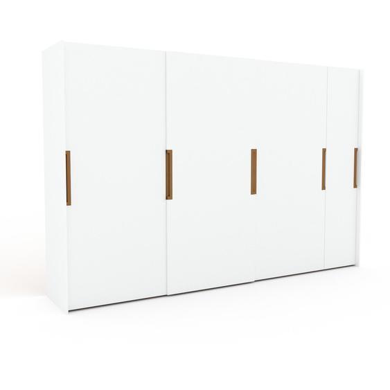 Kleiderschrank Weiß - Individueller Designer-Kleiderschrank - 354 x 233 x 65 cm, Selbst Designen, Böden/hohe Schublade/Schublade Glasfront/drawer_small_fronts/Kleiderlift/Kleiderstange